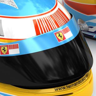 1483 2010 F1 Fernando Alonso Helmet