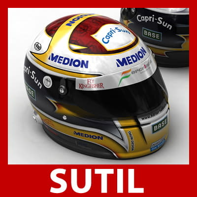 Adrian Sutil and Giancarlo Fisichella F1 Helmets