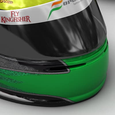 1527 Adrian Sutil and Giancarlo Fisichella F1 Helmets