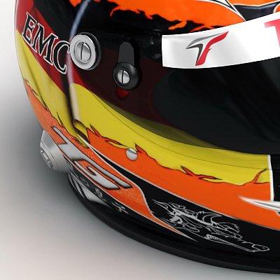Jarno Trulli and Timo Glock F1 Helmets