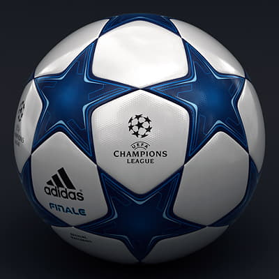 2490 UEFA Champions League Cup Trophy and Finale 11 Match Ball