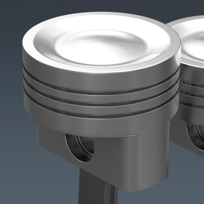 Animated L4 Engine Cylinders