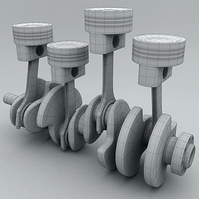 2511 Animated L4 Engine Cylinders