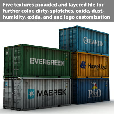 359 ISO Cargo Containers Pack