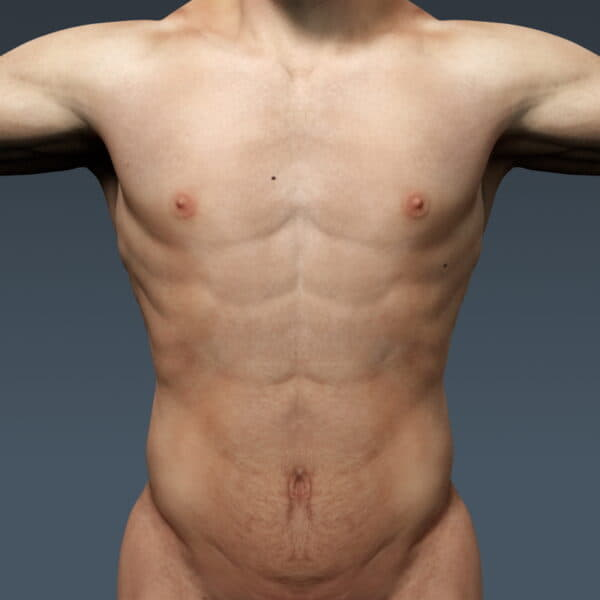 3696 Human Male Body and Respiratory System Textured Anatomy