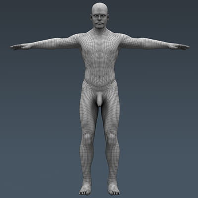 3709 Human Male Body and Respiratory System Textured Anatomy