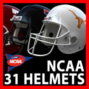 NCAA Football Helmets Pack