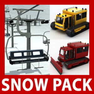 Snow Pack - Chair lift, snowcat and snowplow