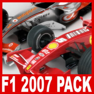 2007 F1 McLaren and Ferrari Pack