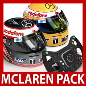 2007 F1 McLaren Helmets and Steering Wheel