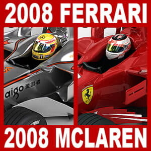 2008 F1 McLaren MP4-23 and Ferrari F2008