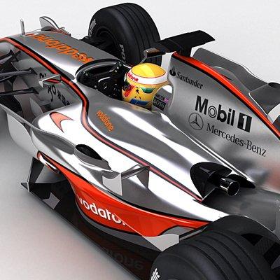 2008 F1 McLaren MP4-23 and Ferrari F2008