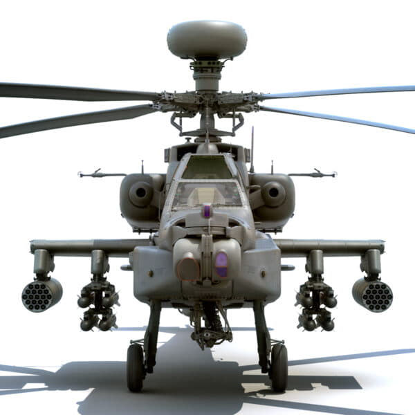 9029 Boeing AH 64D Apache Longbow Helicopter with Cockpit