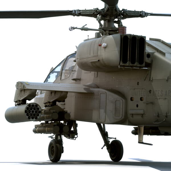 9033 Boeing AH 64D Apache Longbow Helicopter with Cockpit