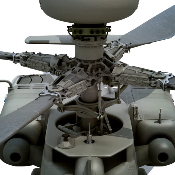 9035 Boeing AH 64D Apache Longbow Helicopter with Cockpit