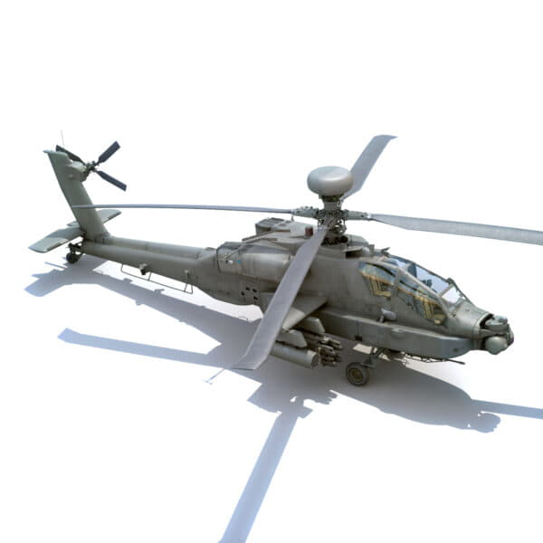 9038 Boeing AH 64D Apache Longbow Helicopter with Cockpit