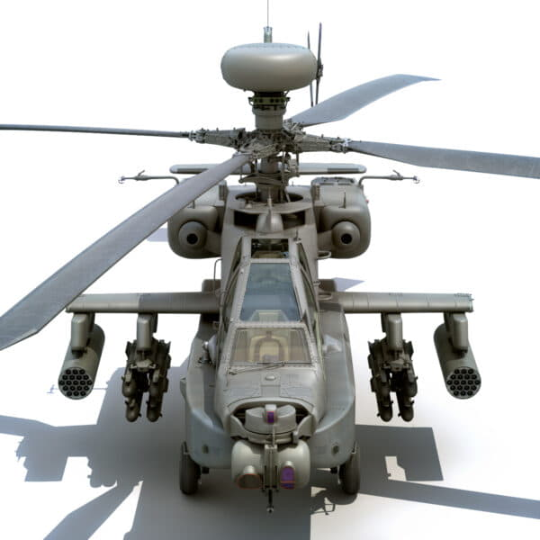 9040 Boeing AH 64D Apache Longbow Helicopter with Cockpit