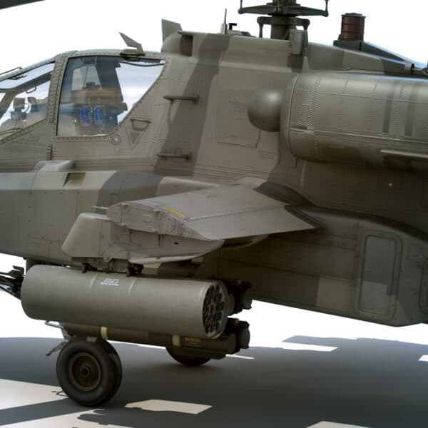 9042 Boeing AH 64D Apache Longbow Helicopter with Cockpit