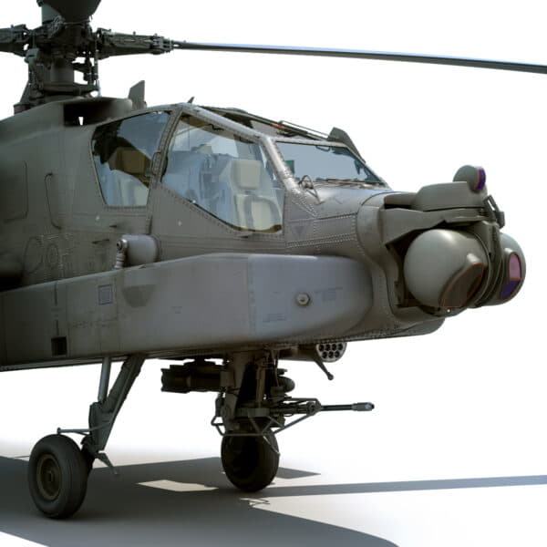 9044 Boeing AH 64D Apache Longbow Helicopter with Cockpit
