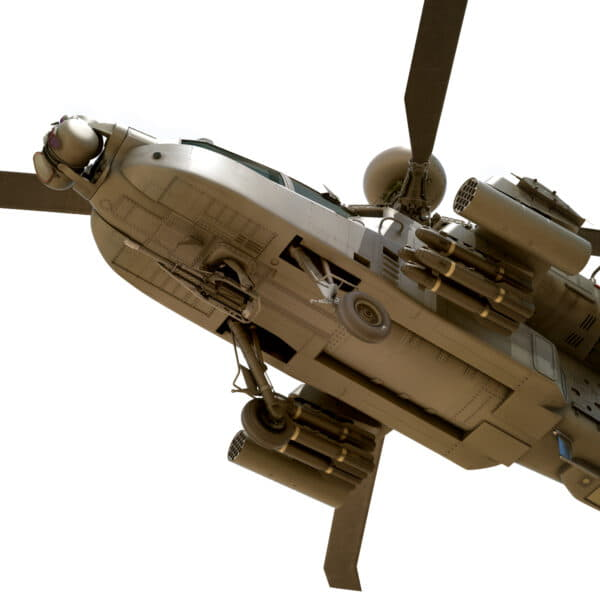 9045 Boeing AH 64D Apache Longbow Helicopter with Cockpit
