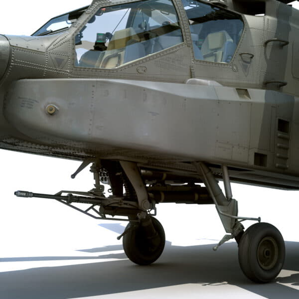 9050 Boeing AH 64D Apache Longbow Helicopter with Cockpit