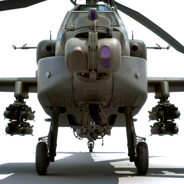 9051 Boeing AH 64D Apache Longbow Helicopter with Cockpit