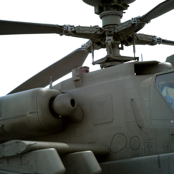 9053 Boeing AH 64D Apache Longbow Helicopter with Cockpit