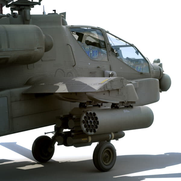 9054 Boeing AH 64D Apache Longbow Helicopter with Cockpit