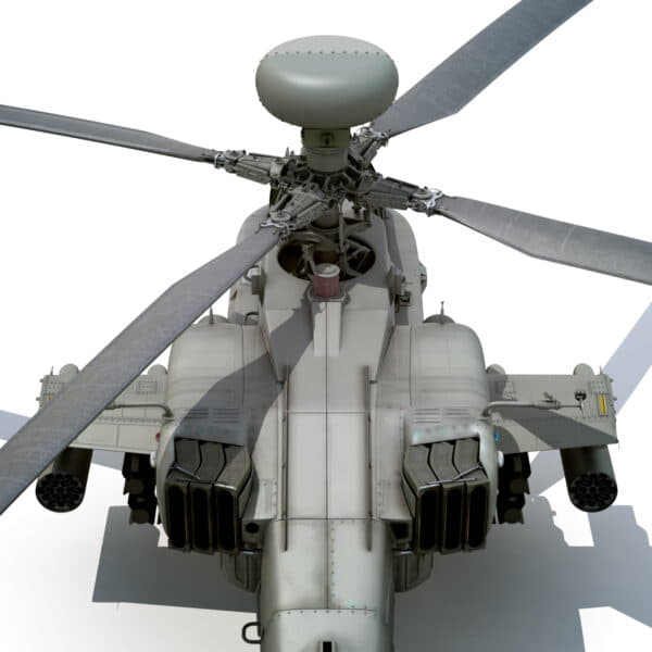 9056 Boeing AH 64D Apache Longbow Helicopter with Cockpit
