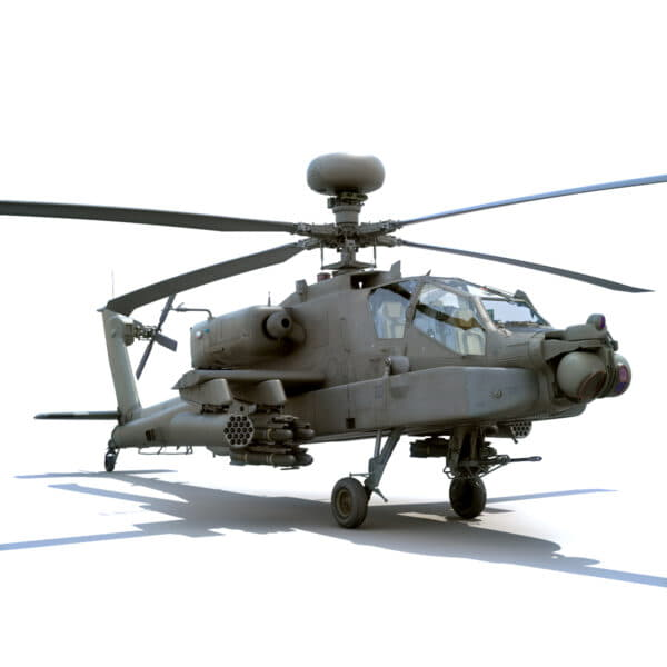 9060 Boeing AH 64D Apache Longbow Helicopter with Cockpit