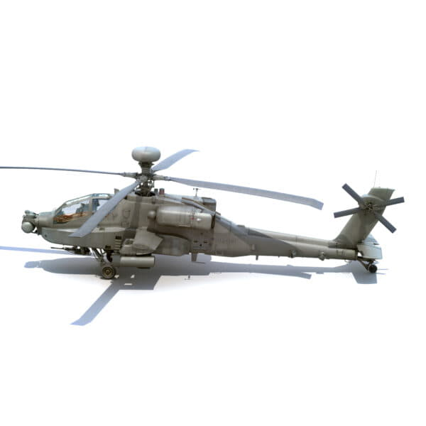 9062 Boeing AH 64D Apache Longbow Helicopter with Cockpit