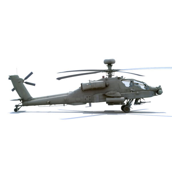 9063 Boeing AH 64D Apache Longbow Helicopter with Cockpit