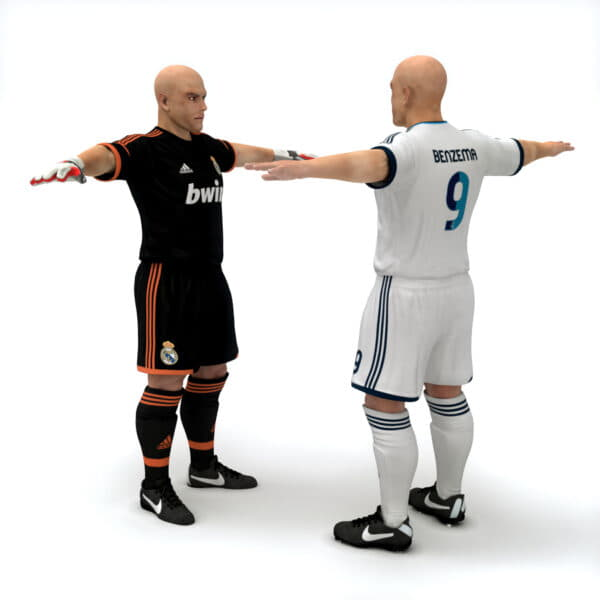 9383 Rigged Football Player and Goalkeeper Real Madrid CF