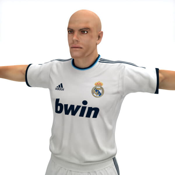 9385 Rigged Football Player and Goalkeeper Real Madrid CF