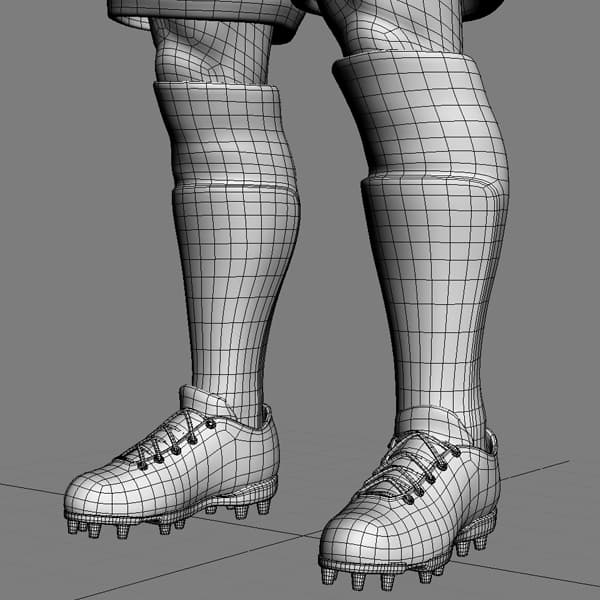 9394 Rigged Football Player and Goalkeeper Real Madrid CF